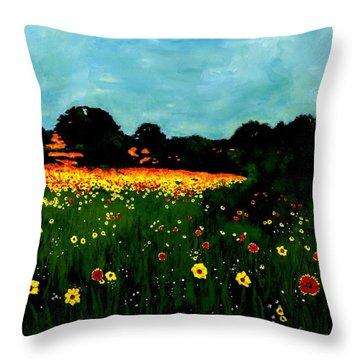 Not Another Bluebonnet Painting Throw Pillow