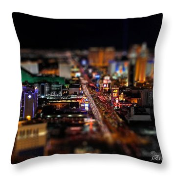 Not Everything Stays In Vegas - Tiltshift Throw Pillow