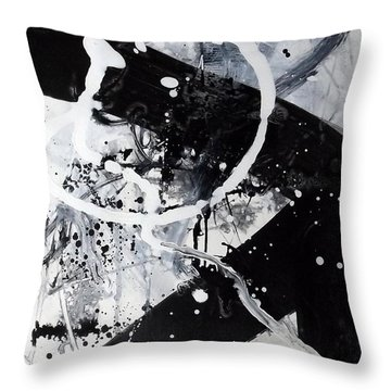 Not Just Black And White2 Throw Pillow