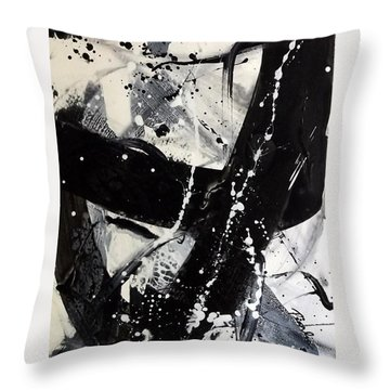 Not Just Black And White3 Throw Pillow