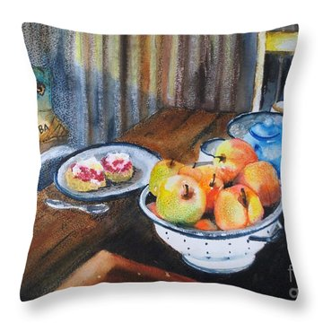 Not Just Tea And Scones - Qcwa Toowoomba 90 Years Throw Pillow