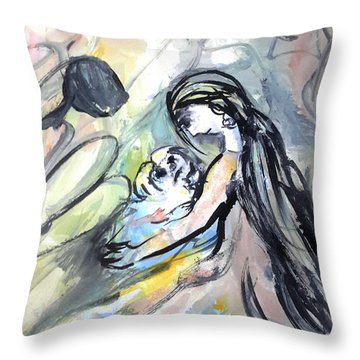 Not Leave Your Family  Throw Pillow