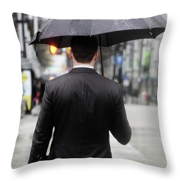 Not Me  Throw Pillow by Empty Wall