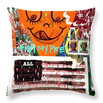 Throw Pillow featuring the photograph Not My President by John Rizzuto