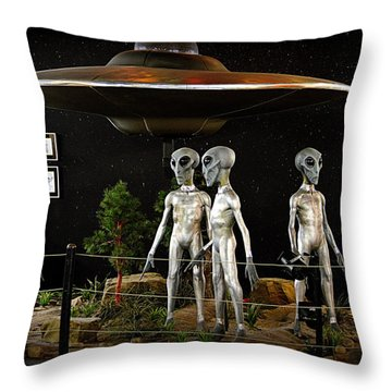 Not Of This Earth Throw Pillow
