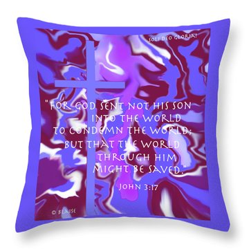 Not To Condemn But To Save Throw Pillow