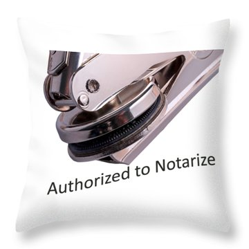 Notary Public Slogan Throw Pillow
