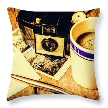 Notes Of Past Recollection Throw Pillow