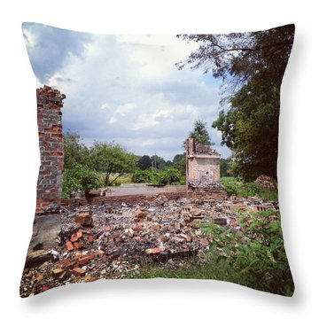 Nothing But Rubble Throw Pillow