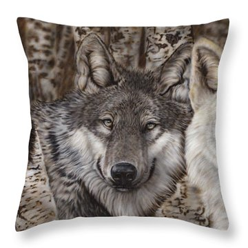 Nothing Is Ever Just Black And White Throw Pillow