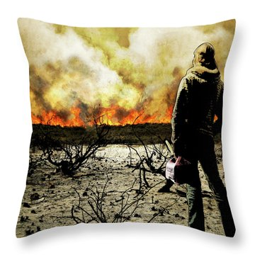 Nothing Left To Burn Throw Pillow