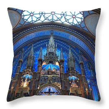 Notre Dame Basilica Throw Pillow by John Schneider
