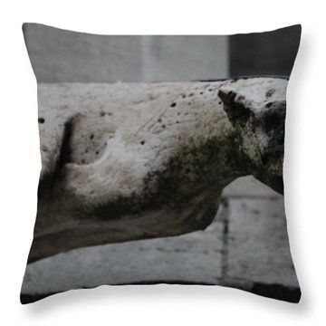 Notre Dame Bat Gargoyle Throw Pillow