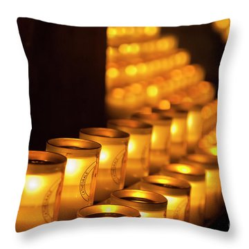 Notre Dame Candles Throw Pillow
