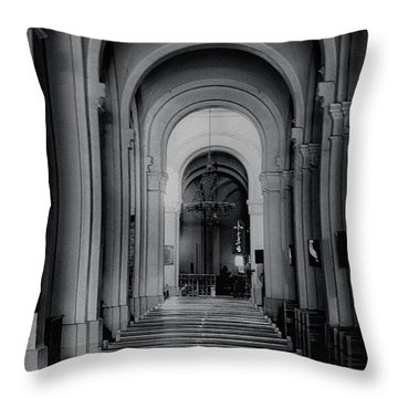Throw Pillow featuring the photograph Notre Dame Cathedral Vietnam by Joseph Hollingsworth