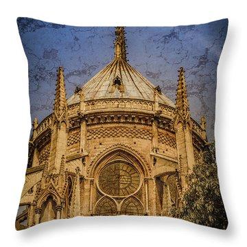 Paris, France - Notre-dame De Paris - Apse Throw Pillow