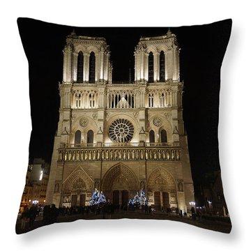 Notre Dame De Paris Throw Pillow by Erik Tanghe