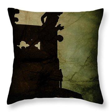 Paris, France - Gargoyle Watch Throw Pillow