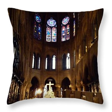 Notre Dame De Paris Throw Pillow by Takaaki Yoshikawa
