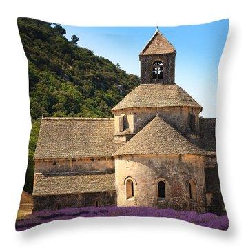Notre-dame De Senanque  Abbey Provence France Throw Pillow