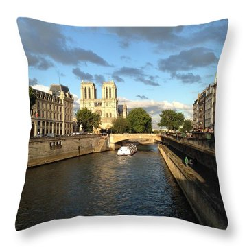 Notre Dame Throw Pillow by Ethan Crawford