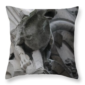Notre Dame Gargoyle Grotesque Throw Pillow