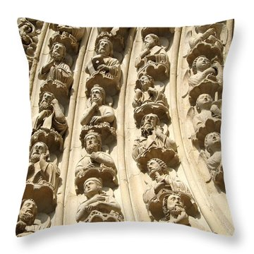 Notre Dame Throw Pillow by Kristy Ashton