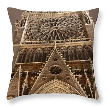 Throw Pillow featuring the photograph Notre Dame North by Christopher Kirby