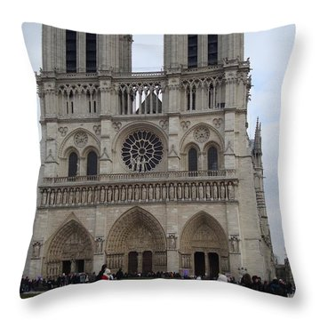 Notre Dame Throw Pillow by Roxy Rich