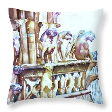 Notre-dame Sentinels Throw Pillow