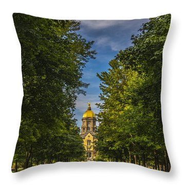 Notre Dame University 2 Throw Pillow