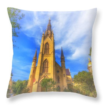 Notre Dame University 5 Throw Pillow