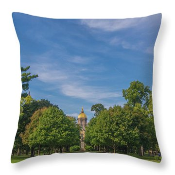 Throw Pillow featuring the photograph Notre Dame University 6 by David Haskett