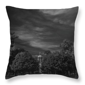 Throw Pillow featuring the photograph Notre Dame University 6a by David Haskett