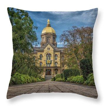 Notre Dame University Q1 Throw Pillow by David Haskett