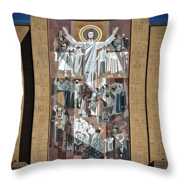 Notre Dame's Touchdown Jesus Throw Pillow by Mountain Dreams