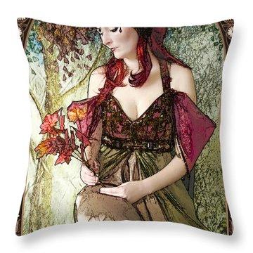 Nouveau Throw Pillow by John Edwards