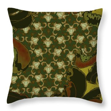 Nouveau Water Beetle Throw Pillow