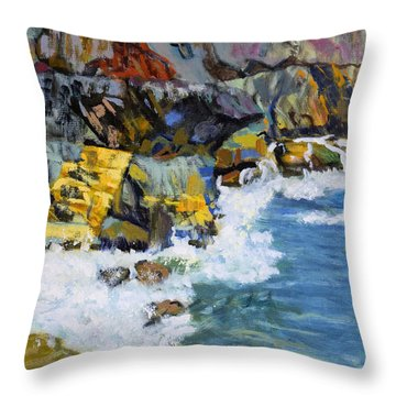 Nova Scotia Coastline Throw Pillow