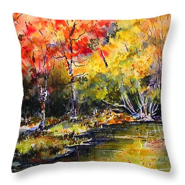 Throw Pillow featuring the painting Nova Scotia by Marti Green