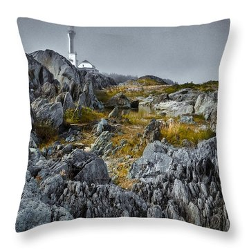 Nova Scotia's Rocky Shore Throw Pillow