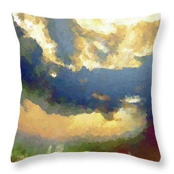 Novam Mortem Throw Pillow