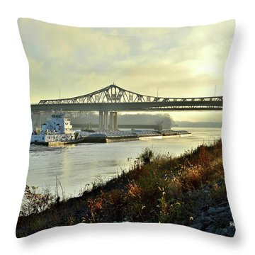 November Barge Throw Pillow
