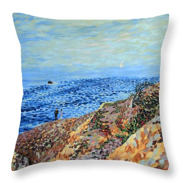 November Day At Point Lobos San Francisco Throw Pillow