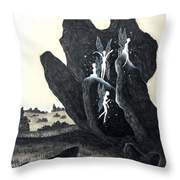 November Eve Throw Pillow