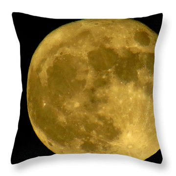 Throw Pillow featuring the photograph November Full Moon by Eric Switzer
