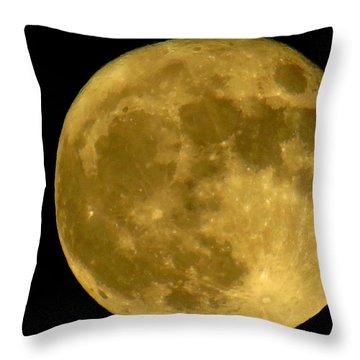 November Full Moon Throw Pillow