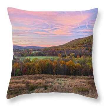 November Glowing Sky Throw Pillow