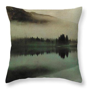 November Lake Throw Pillow