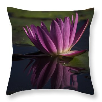November Lily Throw Pillow